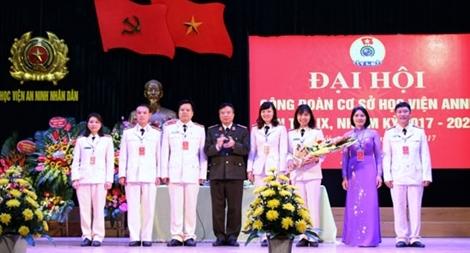 Đại hội Công đoàn Học viện An ninh nhân dân