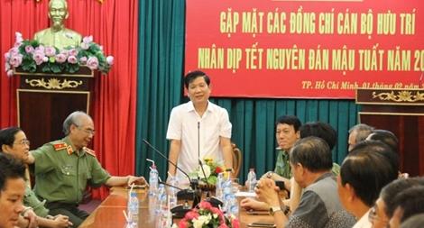 Văn Phòng Bộ Công an gặp mặt cán bộ hưu trí nhân dịp Tết Mậu Tuất