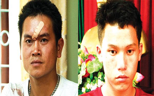 Hai đối tượng Thai và Chua tại Cơ quan Công an.