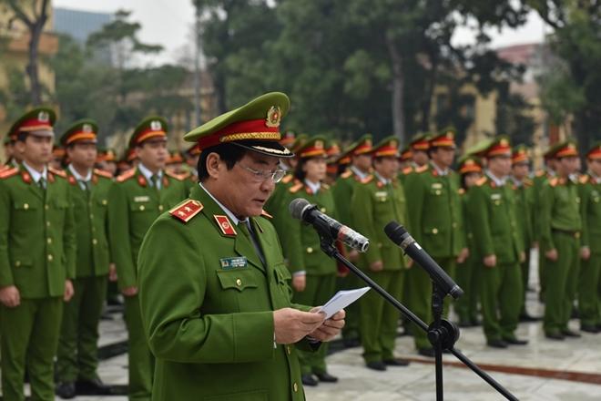 Cục CSĐT tội phạm ma túy tổ chức lễ tuyên thệ cho chiến sĩ mới