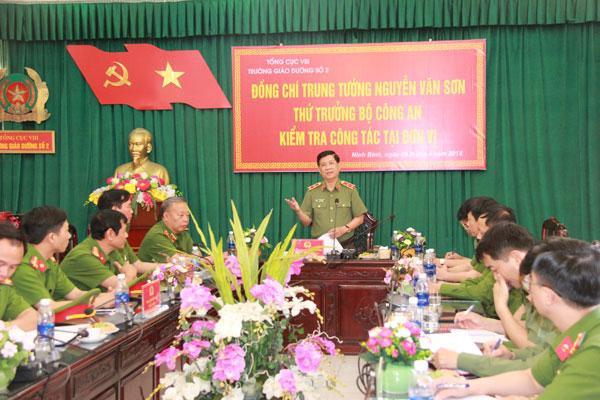 Thứ trưởng Nguyễn Văn Sơn kiểm tra công tác tại Trường Giáo dưỡng số 2 - Ảnh minh hoạ 2