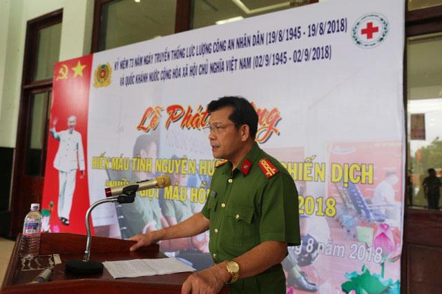 600 cán bộ, chiến sĩ Công an Đắk Nông hiến máu tình nguyện
