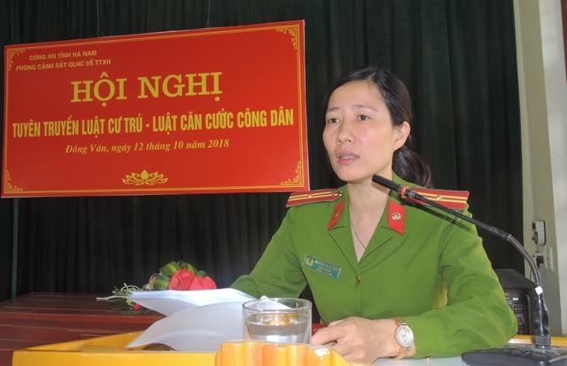 Công an tỉnh Hà Nam tuyên truyền Luật cư trú, Luật căn cước công dân