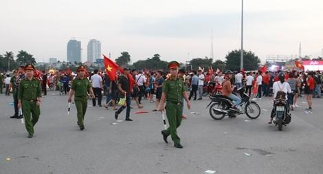 Lực lượng công an bảo đảm an ninh trận Việt Nam- Malaysia