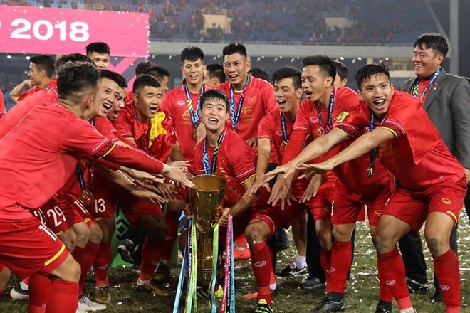 Đội tuyển Việt Nam chỉ có thêm 5 điểm sau chức vô địch AFF Cup 2018. Ảnh: VFF.