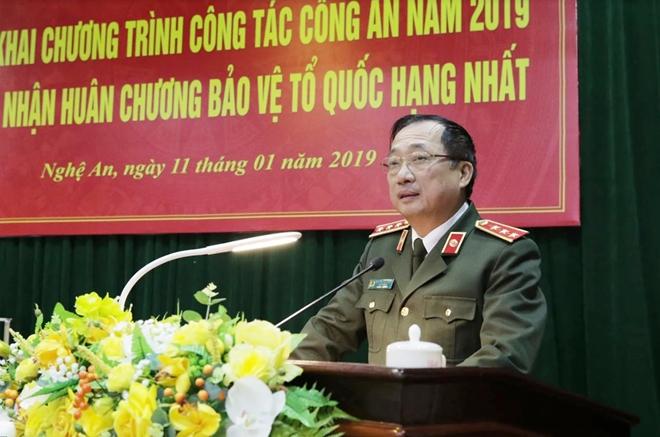 Thứ trưởng Nguyễn Văn Thành dự Hội nghị triển khai Công tác năm 2019 của Công an tỉnh Nghệ An