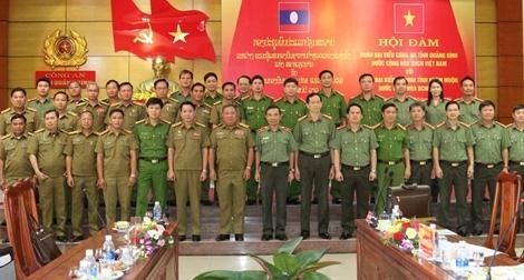 Công an tỉnh Quảng Bình thăm, chúc Tết Bunpimay lực lượng An ninh nước bạn Lào