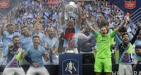 Vô địch FA Cup, Man City hoàn tất cú ăn ba