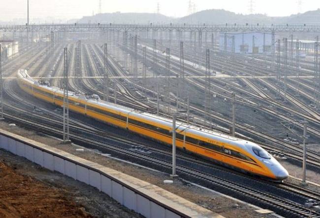 Đường sắt cao tốc ở Trung Quốc.