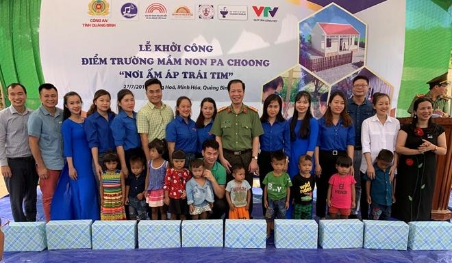 Công an tỉnh Quảng Bình tổ chức khởi công điểm trường tại Pa Choong