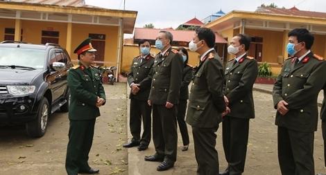 Kiểm tra công tác phòng chống dịch Covid-19 tại Công an Lạng Sơn