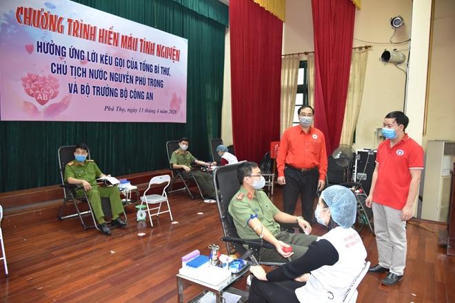 Công an tỉnh Phú Thọ tổ chức hiến máu tình nguyện
