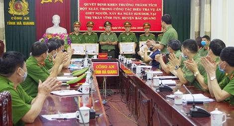 Khen thưởng các đơn vị phá nhanh vụ án giết người ở Hà Giang