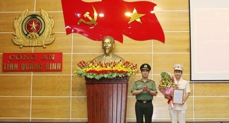 Công an Quảng Bình có tân Phó Giám đốc