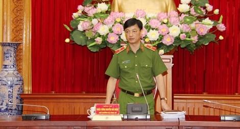 Thứ trưởng Nguyễn Duy Ngọc làm việc về tuyên truyền các chuyên đề công tác của Bộ Công an