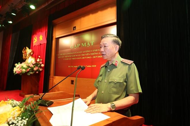 Bộ Công an gặp mặt các thế hệ lãnh đạo lực lượng CSND