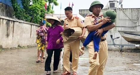 Lực lượng Công an chủ động ứng phó với bão Sinlaku