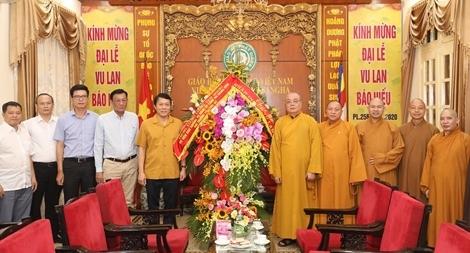 Thứ trưởng Lương Tam Quang chúc mừng tăng ni, phật tử nhân lễ Vu Lan