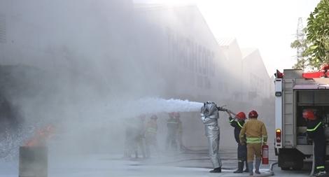 Nâng cao chữa cháy, cứu nạn cứu hộ tại công ty sản xuất ô tô