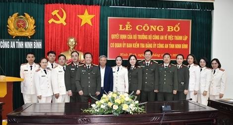 Thành lập Cơ quan Ủy ban kiểm tra Đảng ủy Công an tỉnh Ninh Bình.