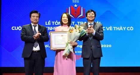 Nữ giảng viên Học viện Chính trị CAND đạt giải nhất cuộc thi viết về thầy cô và mái trường
