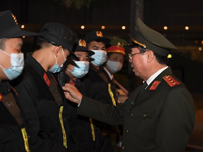 Thứ trưởng Bùi Văn Nam kiểm tra công tác đảm bảo an ninh, an toàn Đại hội XIII của Đảng