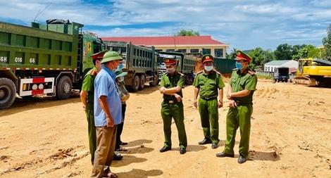 Công an Thanh Hoá ngăn chặn khai thác khoáng sản trái phép trên địa bàn