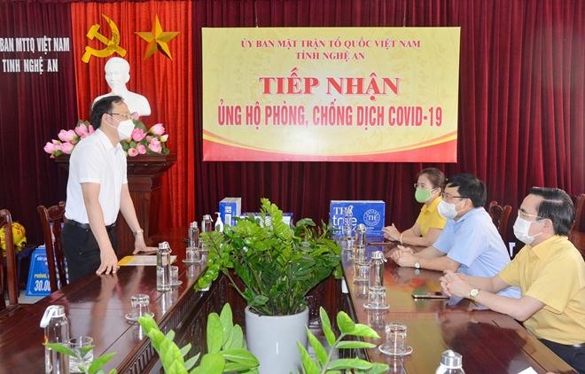 Tập đoàn TH trao tặng Nghệ An 96.000 sản phẩm tốt cho sức khỏe, chung tay chống dịch COVID-19 - Ảnh minh hoạ 3