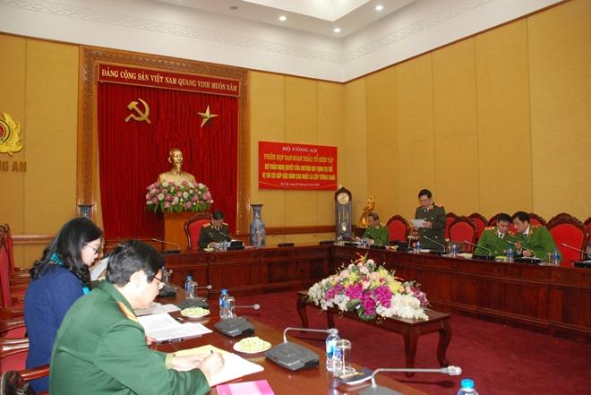 Trung tướng Nguyễn Ngọc Anh công bố Quyết định thành lập ban soạn thảo, tổ biên tập dự thảo nghị quyết
