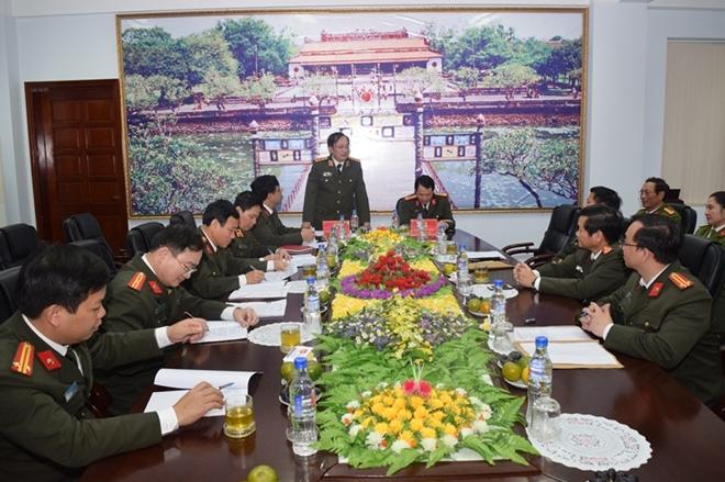 Đoàn công tác Bộ Công an thăm, làm việc tại Công an tỉnh Thừa Thiên - Huế