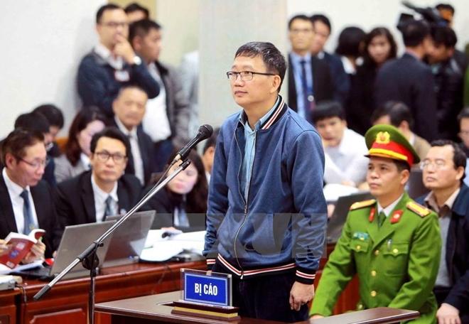 Bị cáo Trịnh Xuân Thanh tại phiên tòa