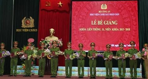 Học viện CSND trao bằng tốt nghiệp cho 631 học viên Khóa liên thông 31