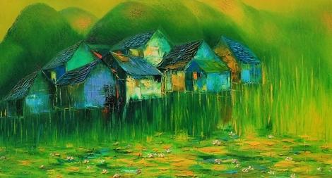 Tâm sự của họa sĩ qua những bức tranh quê