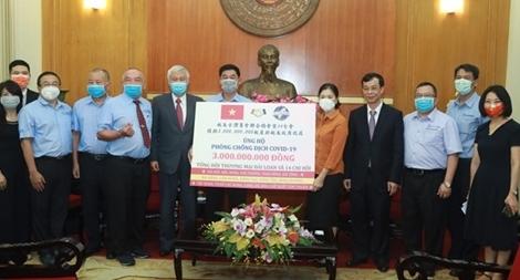Doanh nhân Đài Loan tại Việt Nam ủng hộ 3 tỷ đồng phòng chống dịch