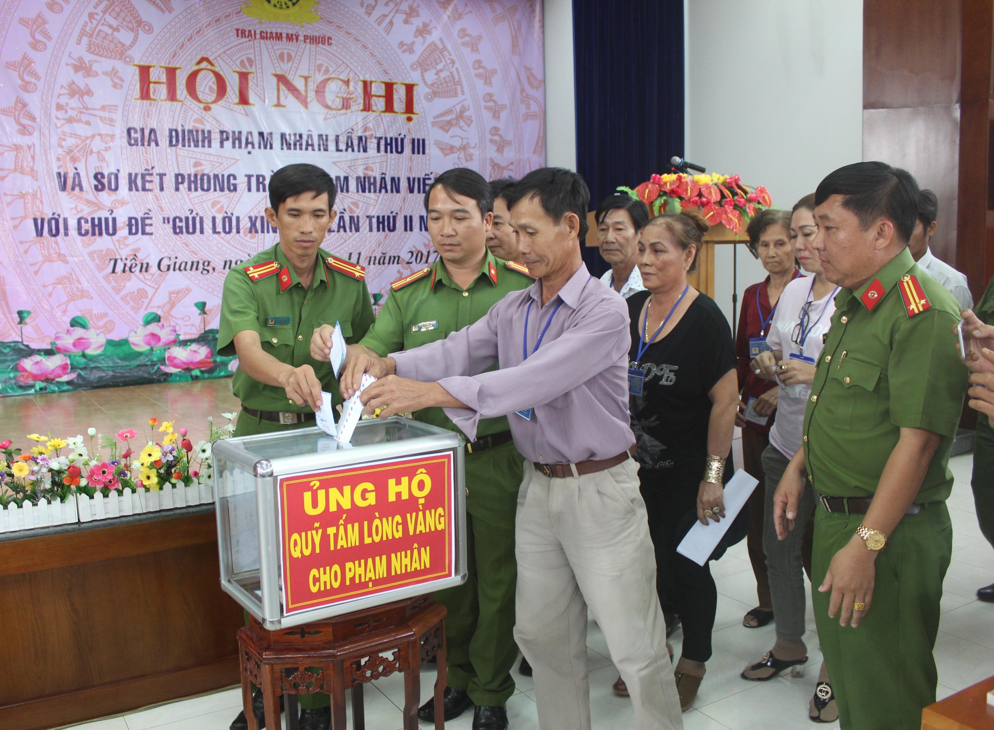 Trại giam Mỹ Phước tổ chức Hội nghị gia đình phạm nhân