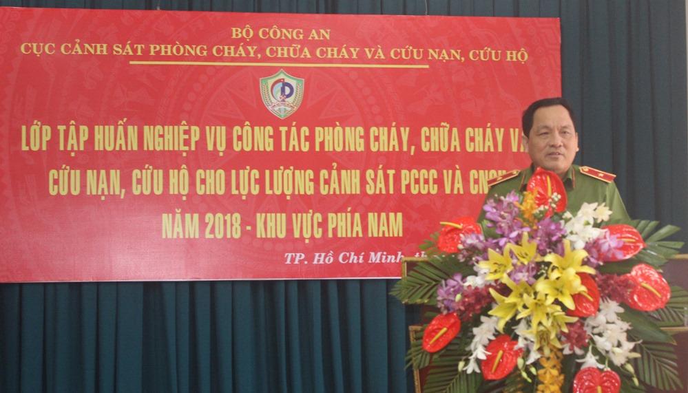 Tập huấn nghiệp vụ PCCC và CNCH khu vực phía Nam
