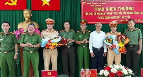 Công an TP Hồ Chí Minh: Khen thưởng nhiều gương người tốt, việc tốt