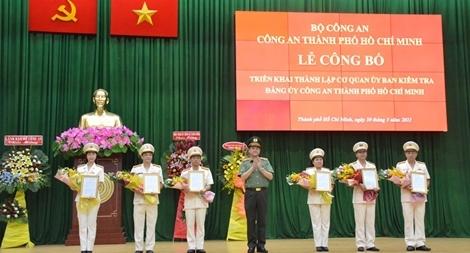 Thành lập Cơ quan Ủy ban Kiểm tra Đảng ủy Công an TP Hồ Chí Minh