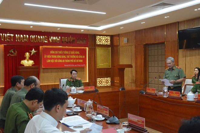 Thứ trưởng Lê Quốc Hùng làm việc với Công an TP Hồ Chí Minh - Ảnh minh hoạ 3