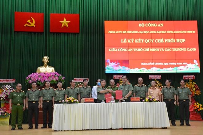 Công an TP Hồ Chí Minh ký kết phối hợp với ba trường CAND - Ảnh minh hoạ 3