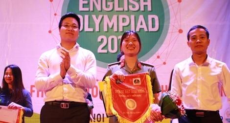 Học viện ANND giành quán quân Cuộc thi Olympic tiếng Anh sinh viên khu vực phía Bắc