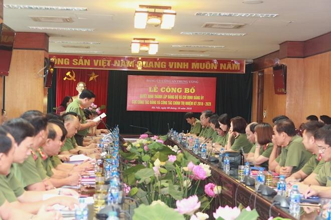 Công bố Quyết định thành lập Đảng bộ Cục Công tác Đảng và công tác chính trị - Ảnh minh hoạ 4