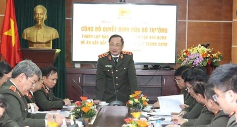 Thành lập Ban Chỉ đạo, Tổ Biên tập xây dựng Đề án sắp xếp, quy hoạch báo chí trong CAND