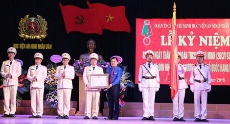 Đoàn Thanh niên Học viện ANND đón nhận Huân chương Bảo vệ Tổ quốc hạng Nhất