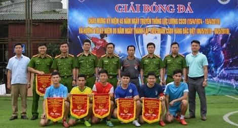 Tiểu đoàn Cảnh sát bảo vệ hàng đặc biệt tổ chức Giải bóng đá