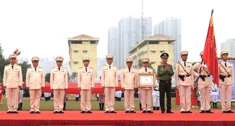 Bộ Tư lệnh Cảnh sát cơ động đón nhận Huân chương Quân công hạng Nhất