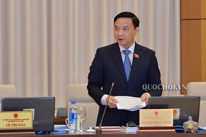 Chủ nhiệm Uỷ ban Pháp luật Nguyễn Khắc Định