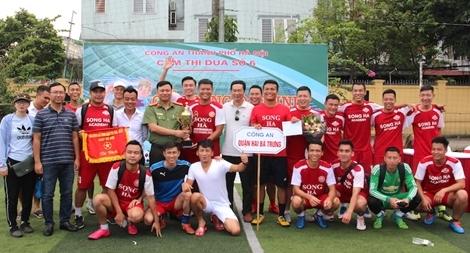 CA quận Hai Bà Trưng đoạt vô địch giải bóng đá mini Cụm thi đua số 6