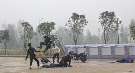 Trung đoàn CSCĐ Bắc Trung Bộ diễn tập phương án năm 2019