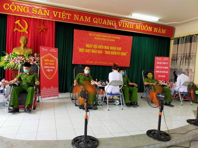 Hơn 620 CBCS Bộ Tư lệnh Cảnh sát cơ động tham gia hiến máu - Ảnh minh hoạ 8